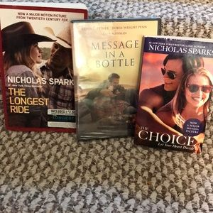 Other - 4 for $10 Nicholas Sparks books and dvd